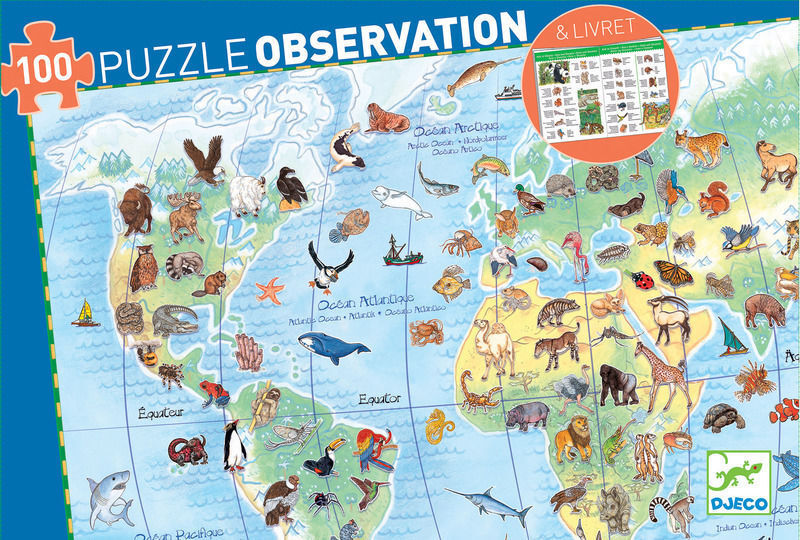 World's Animals Observation Puzzle (4467374260307)