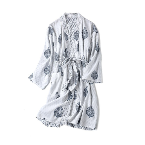 Adult Reversible Organic Cotton Robe - Fort