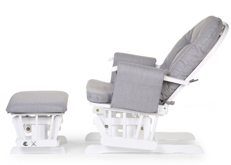 Gliding Chair With Footrest - Grey (4680621686867)