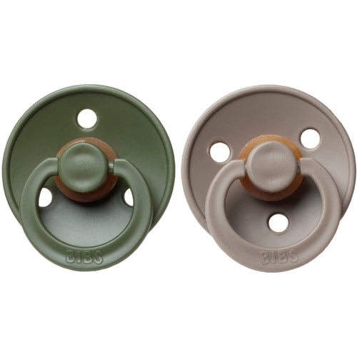 Bibs Pacifier (2pcs) - Hunter Green/Dark Oak (4631854121043)