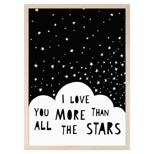 NEW! Poster I Love You More Than All The Stars