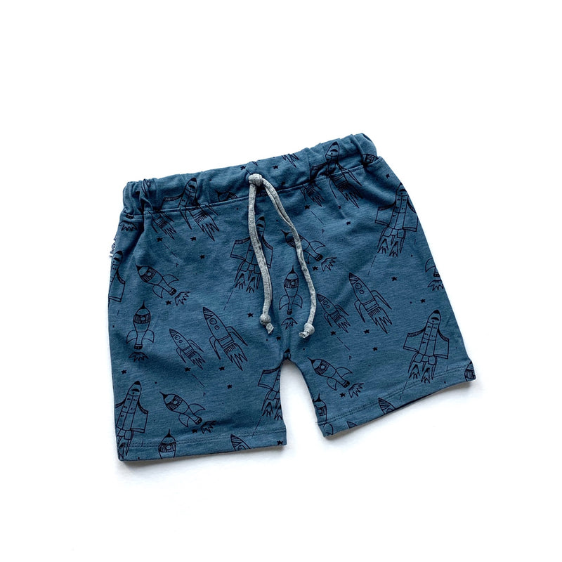 Rockets Drawstring Shorts - Blue (4414837227603)