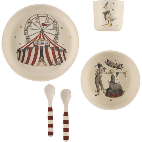 NEW! Circus Dinner Set - Set of 5