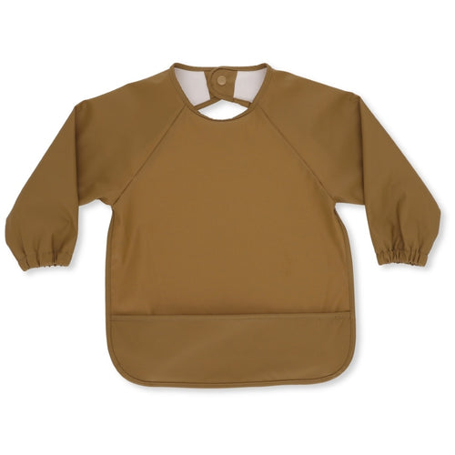 Long Sleeve Dinner Bib - Dark Honey