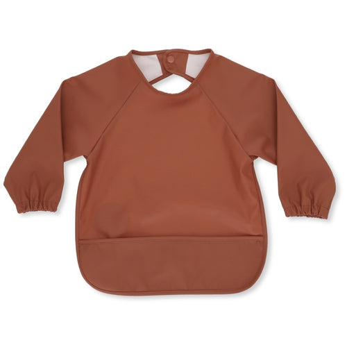 Long Sleeve Dinner Bib - Toffee Dots