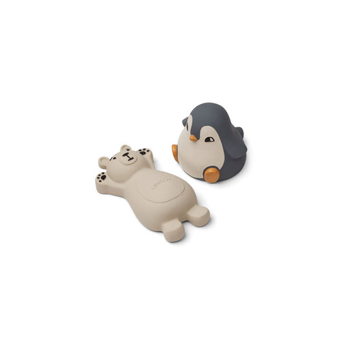 Knud Bath Toys - 2 pack - Blue mix (4696314970195)