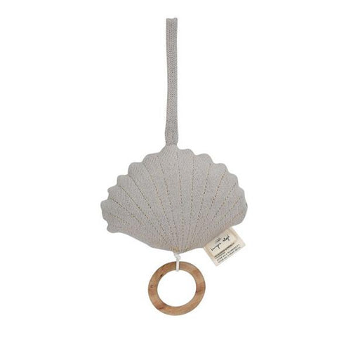 Clam Bell Music Toy - Light Grey Melange (4657784651859)