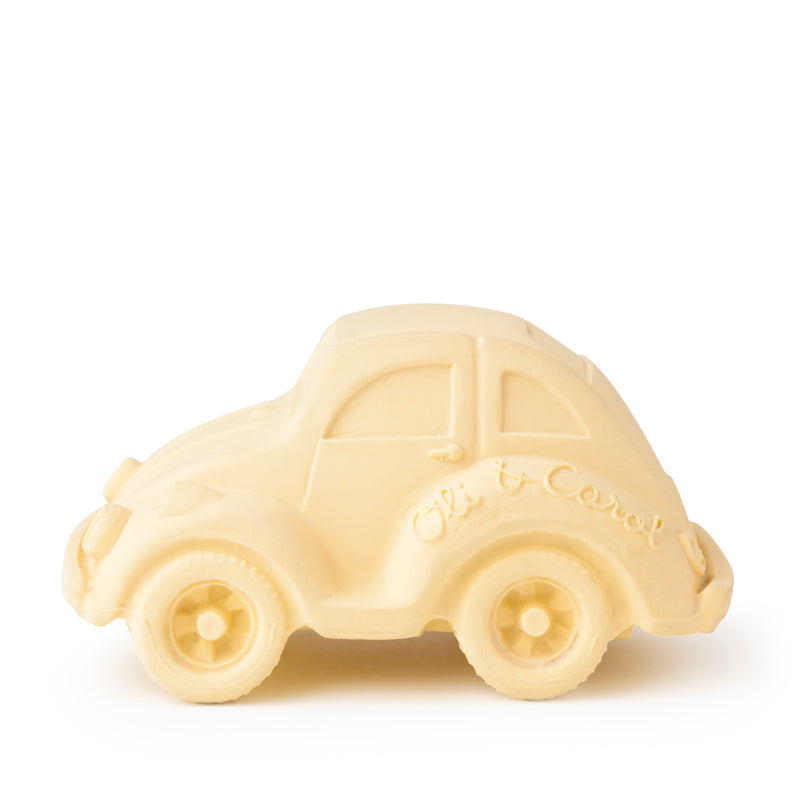 Infant Teething Toy - Carlito Beetle Car - Vanilla (4381903945811)