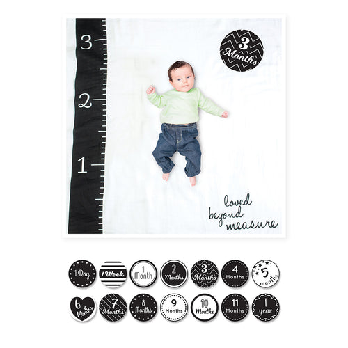 Baby's First Year Blanket & Card Set - Loved Beyond Measure (4410718191699)