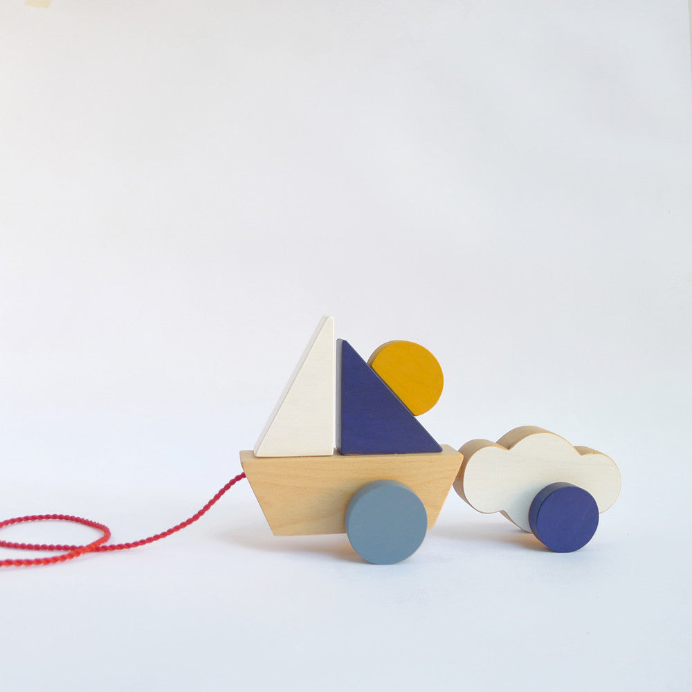 NEW! Boat & Cloud - Wooden Pull Toy for Toddlers – BabyMona