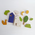 Fox & Houses Wooden Toy for Toddlers