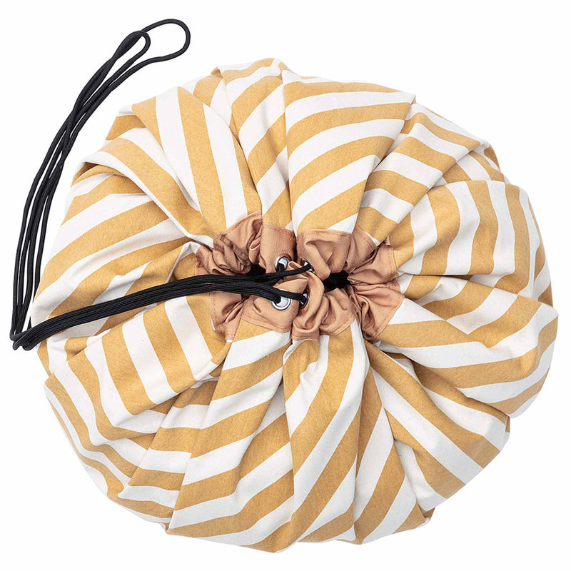 Playmat & Storage Bag - Stripes Mustard (4645609209939)