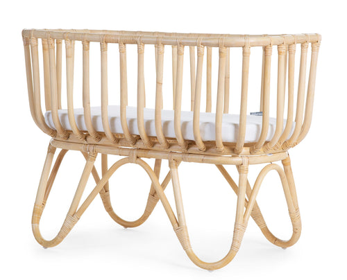 Rattan Cradle Rectangular + Mattress (4724809400403)