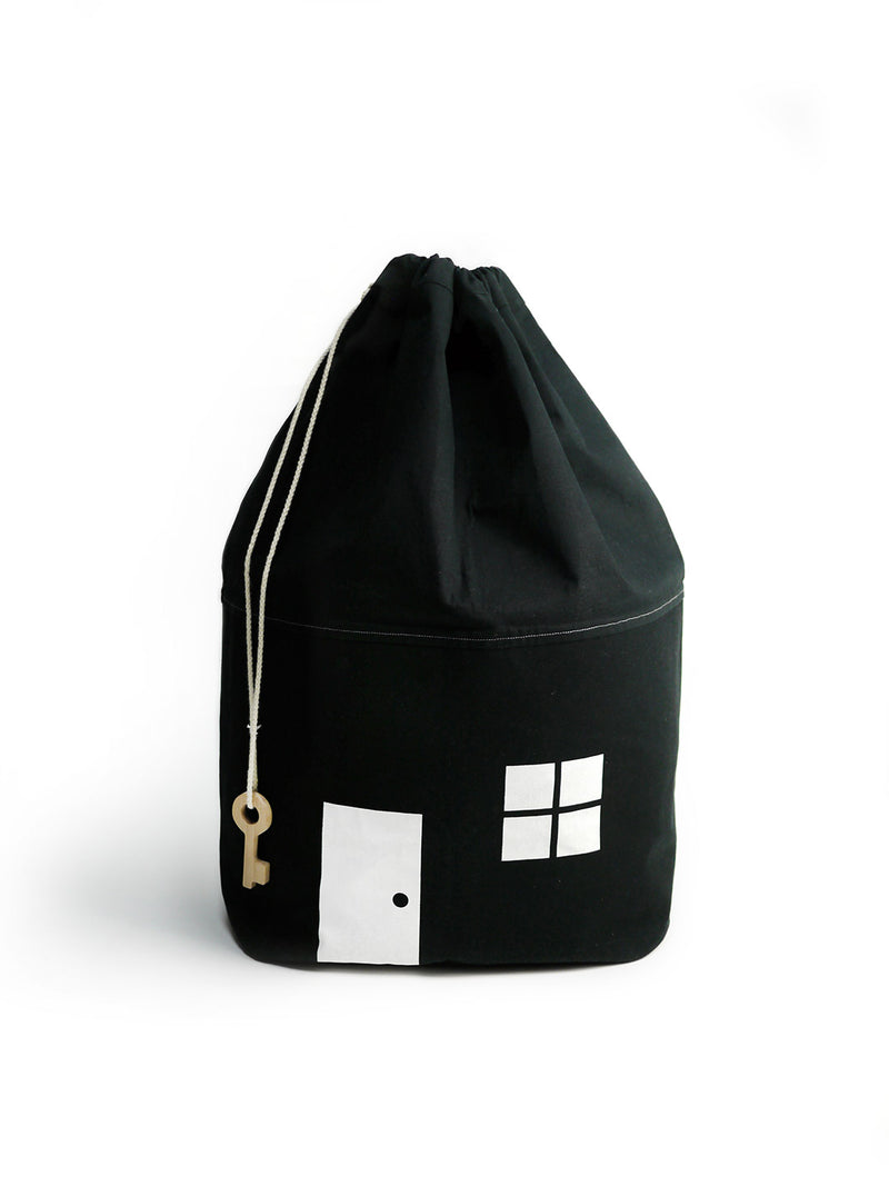 NEW! Black Cotton House Storage Bag-Large