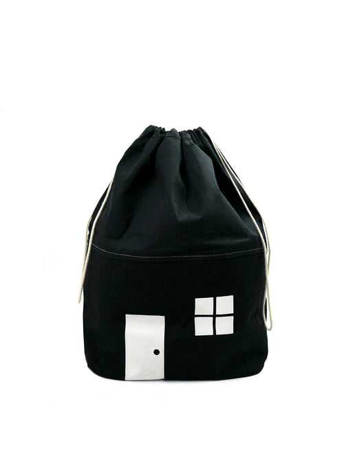 NEW! Black Cotton House Storage Bag-Medium