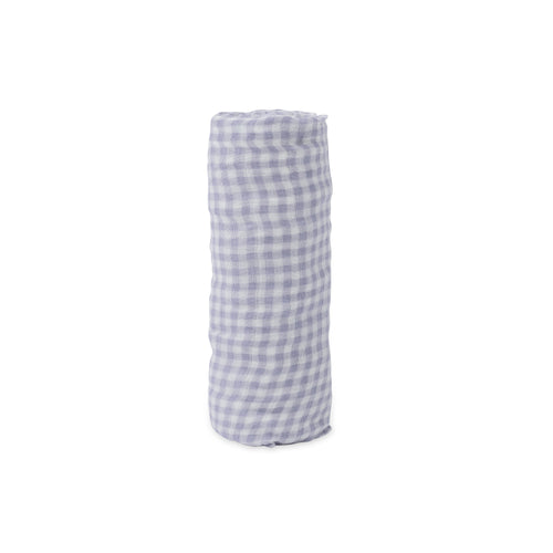 Deluxe Muslin Single Swaddle - Lavender Gingham