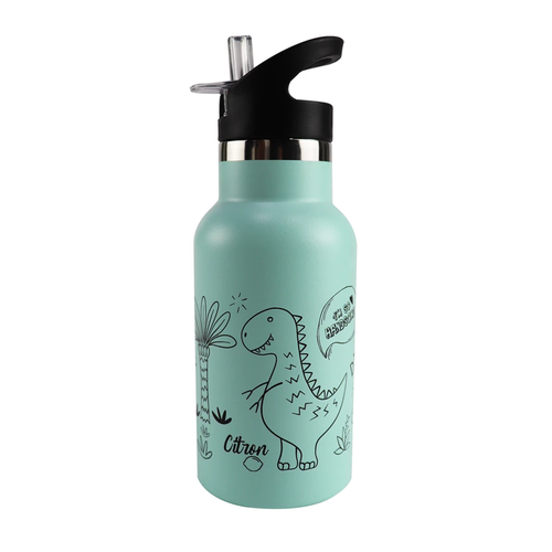 Double Insulated Stainless Steel Water Bottle - Dino (4640985645139)