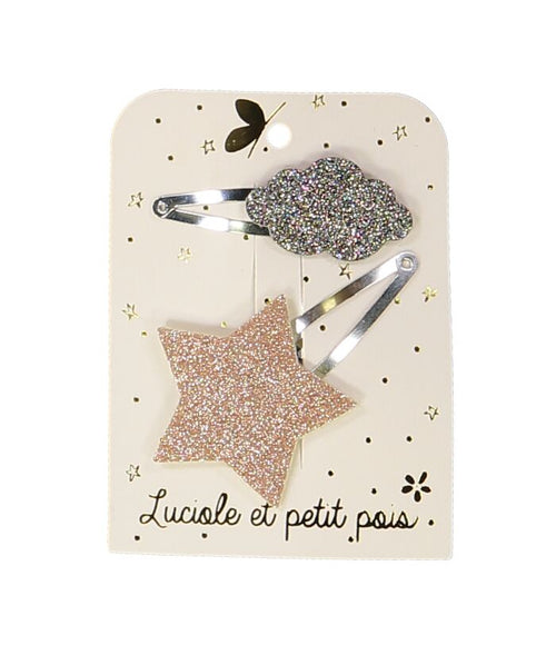 NEW! Star Cloud Hair Clip - Set of 2 (3478653010003)