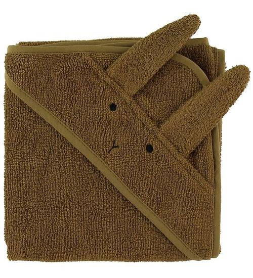 Albert Hooded Towel - Rabbit olive green (4696318541907)