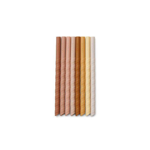 Zoe Straw Set - 8 Pack -  Rose Multi Mix (4442183991379)