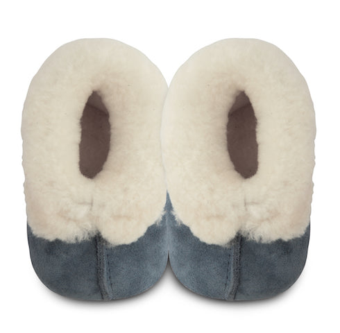 Alaska Sheepskin Slippers - Dark Blue (4371078938707)