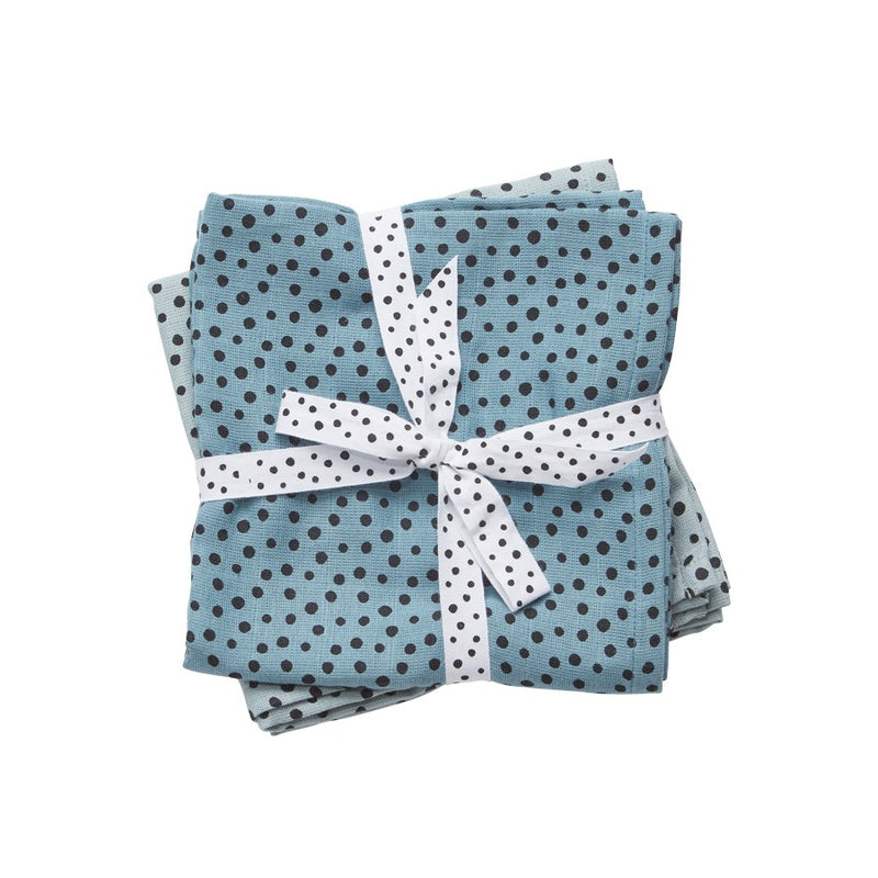 Happy Dots Swaddle (2 pack) - Blue (4389490688083)