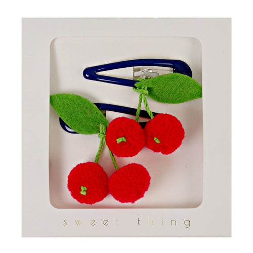 Hair Clips - Cherries