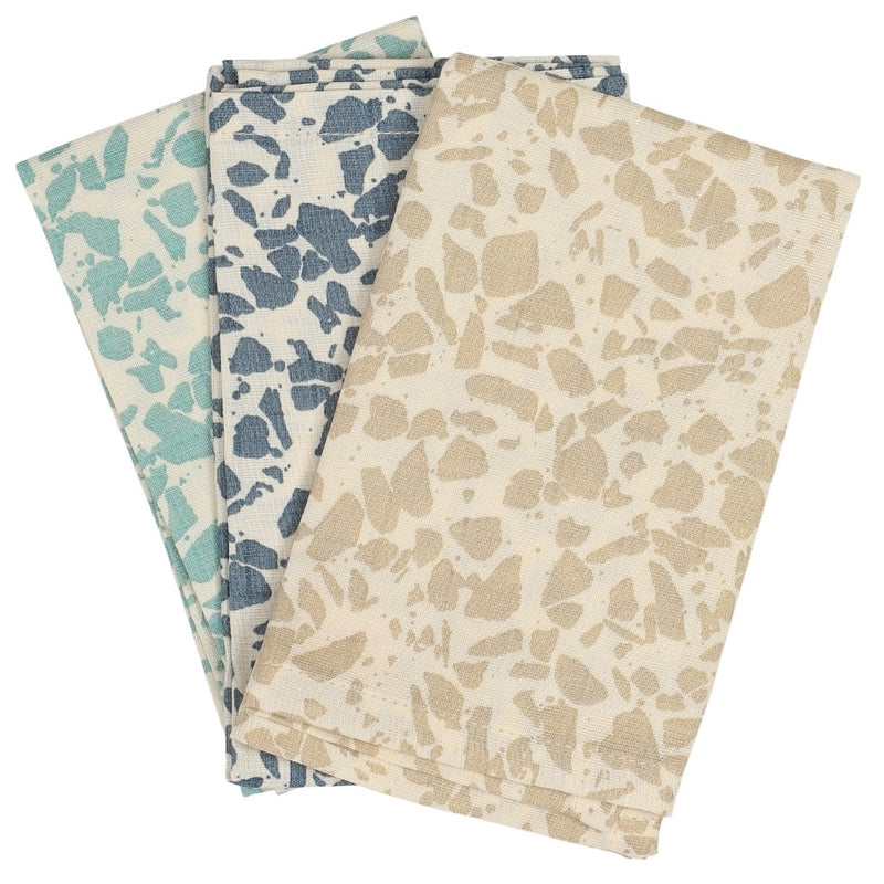 Sui Muslin Wash Cloths (3 pcs) - Cold Terrazzo (4401535680595)