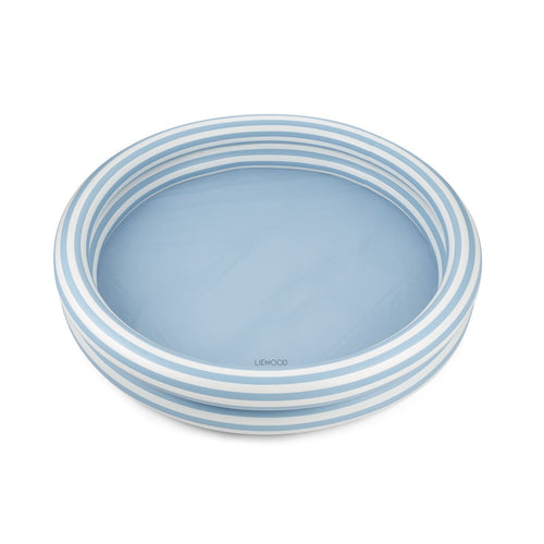 Savannah  Pool -  Stripe - Sea Blue/Creme De La Creme (4442141327443)