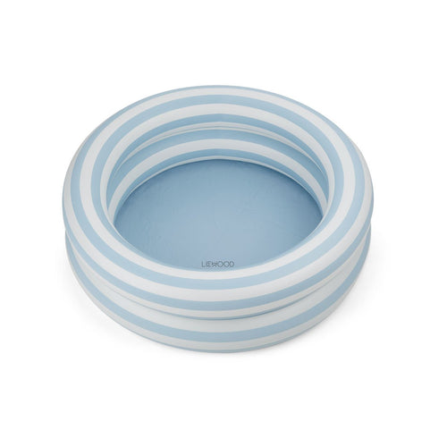 Leonore Pool - Stripe - Sea Blue/Creme De La Creme (4442137198675)