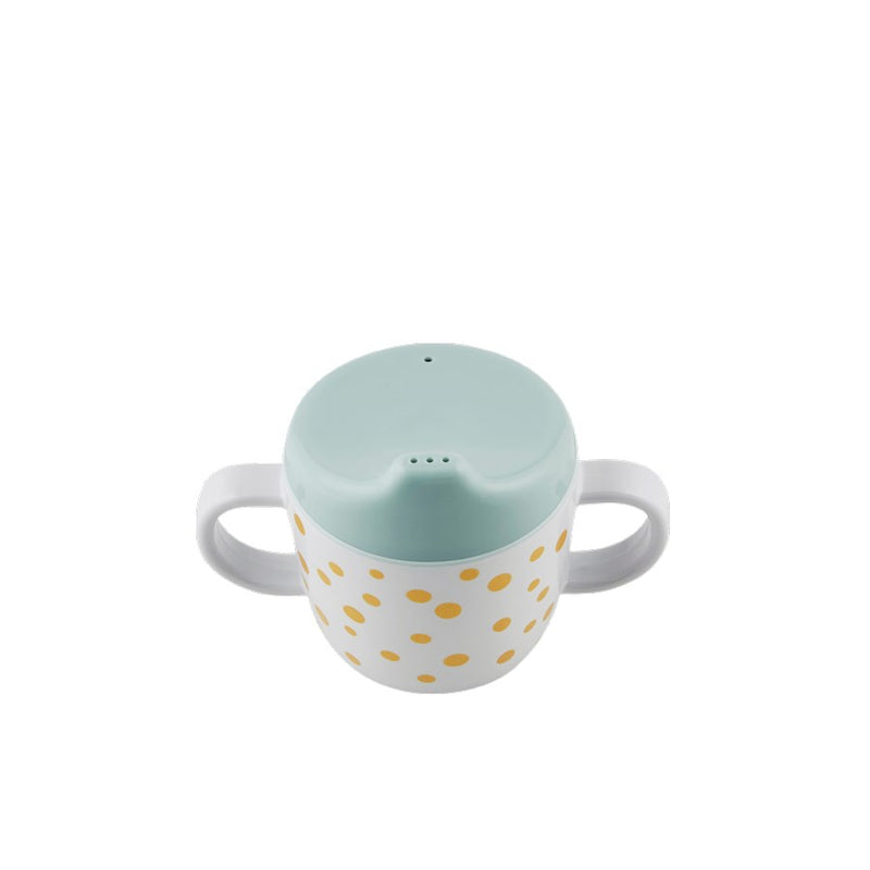 Happy Dots Spout Cup - Gold/Blue (4389480366163)