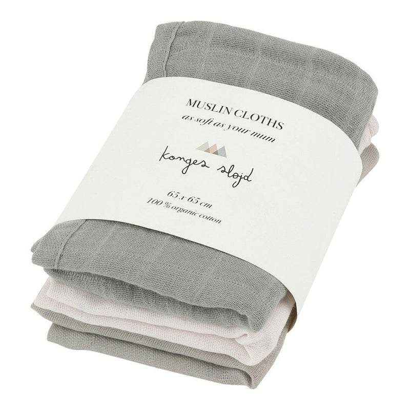 NEW! Muslin Cloths - Set of 3