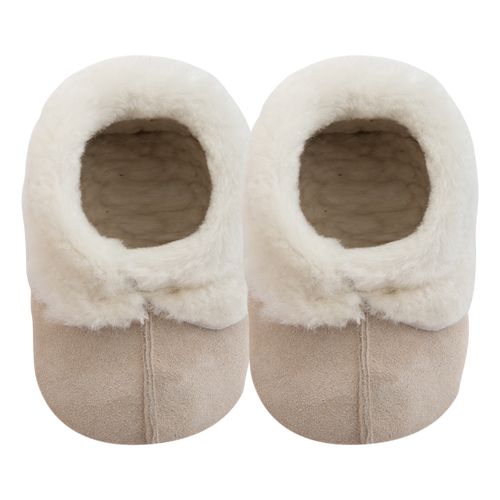 Duvet Sheepskin Slippers - Cream
