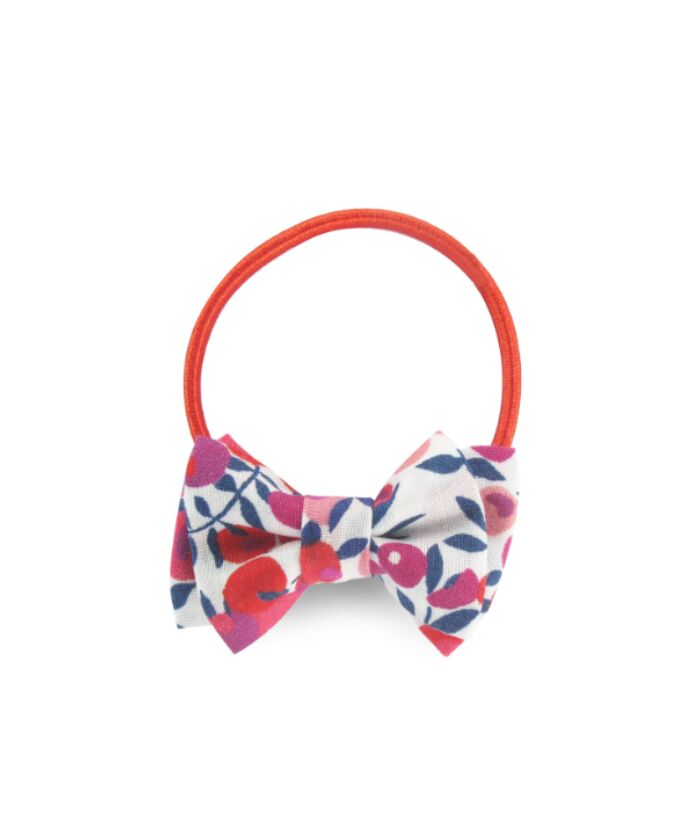 NEW! Mini Double Bow Elastic - Liberty Rouge