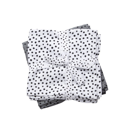 Happy Dots Swaddle (2 pack) - Grey