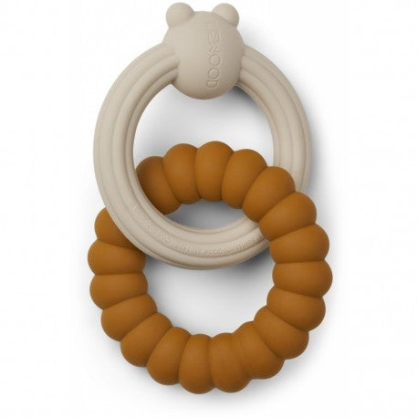 Herbert Teether Mr Bear Mustard Sandy Mix (4739783131219)