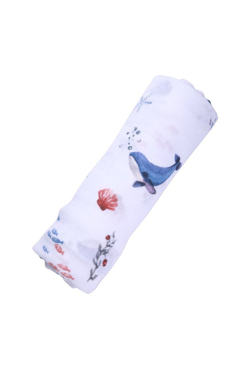 Organic Cotton Muslin - Under The Sea (4604063973459)