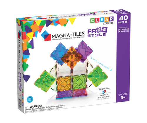 Magna-Tiles® Freestyle 40-Piece Set (4438456795219)