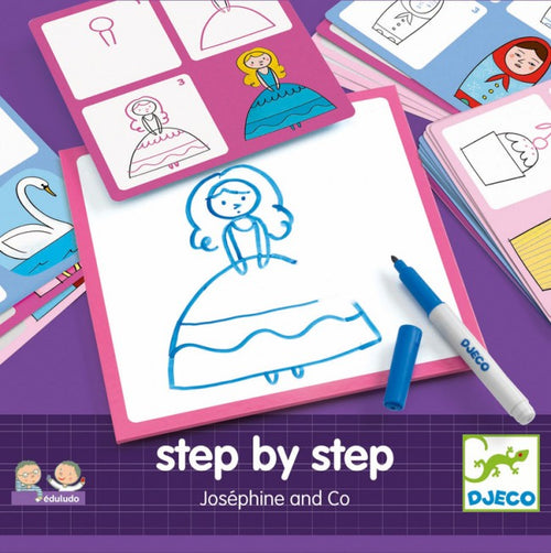 Step By Step Drawing - Josephine And Co (4467258392659)