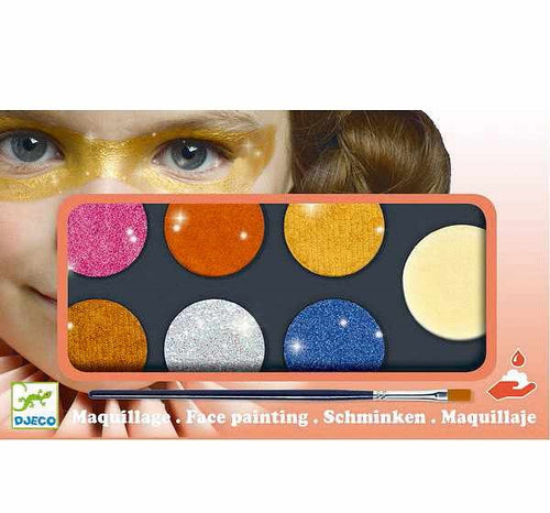 Metallic Face Paints - 6 Colours Palette (4466118754387)