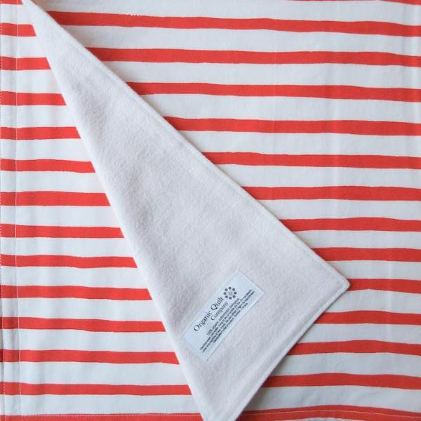 Organic Baby Blanket - Sailor Stripes