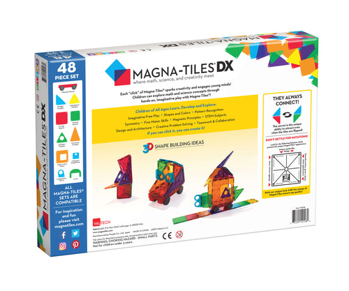 Magna-Tiles® Clear Colors 48 Piece Deluxe Set (4438458335315)