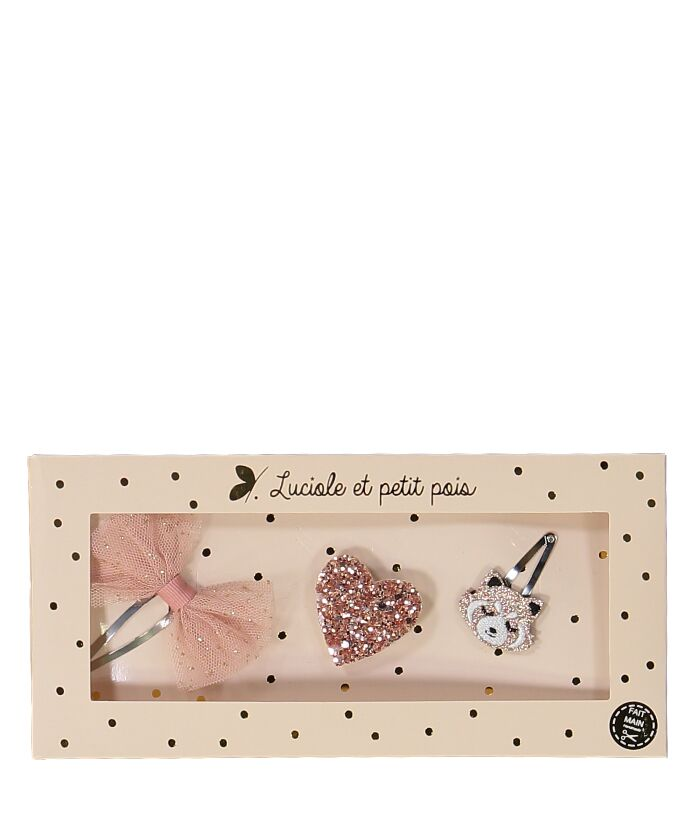 NEW! Hair Clip Set Pink Tutu