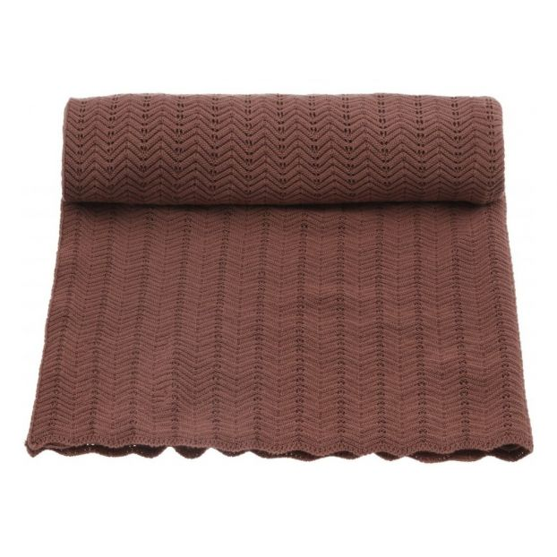 Baby Blanket Pointelle- Ruben Rose