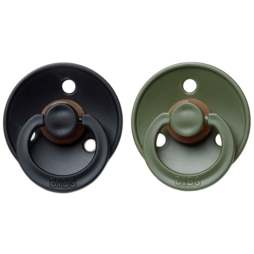 Bibs Pacifier (2pcs) - Black/Hunter Green