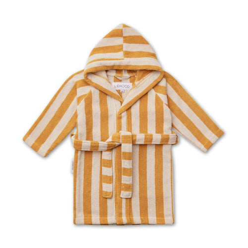 Reggie Bathrobe - Stripe: Yellow Mellow/Sandy (4443022327891)
