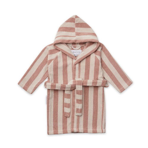 Reggie Bathrobe -  Stripe: Rose/Sandy (4443034976339)