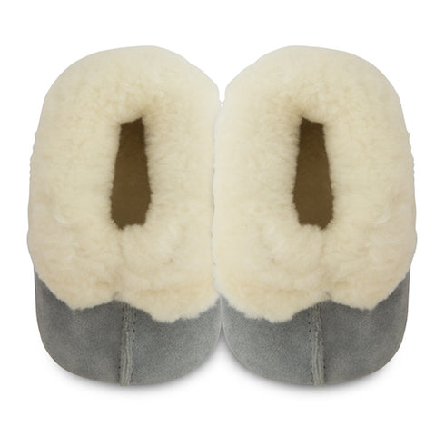 Siberia Sheepskin Slippers - Blue/Grey