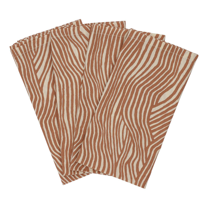 Textile Napkins - 4-Pack - Terracotta Wave (4474782515283)