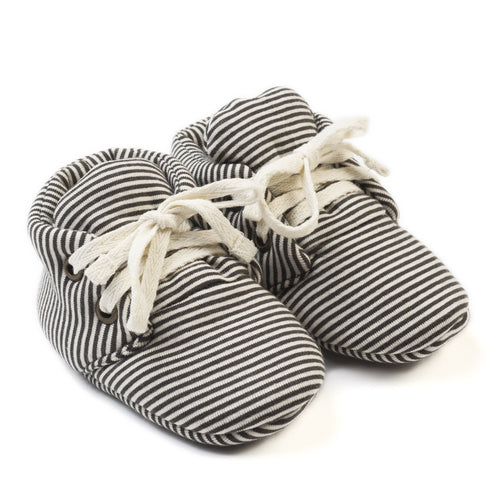 Organic Baby Booties - Stripe (4402405048403)